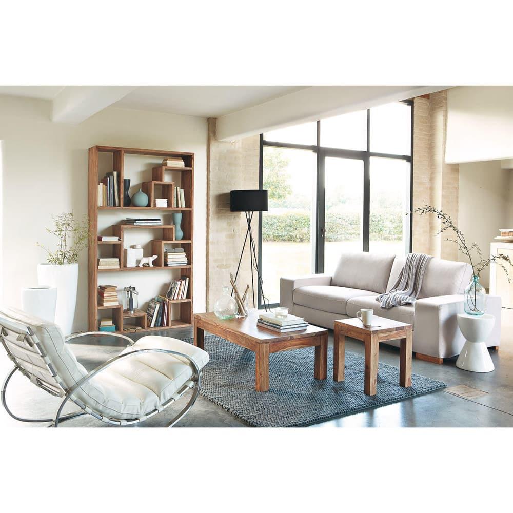 scaffale in massello di legno di sheesham stockholm maisons du monde. Black Bedroom Furniture Sets. Home Design Ideas