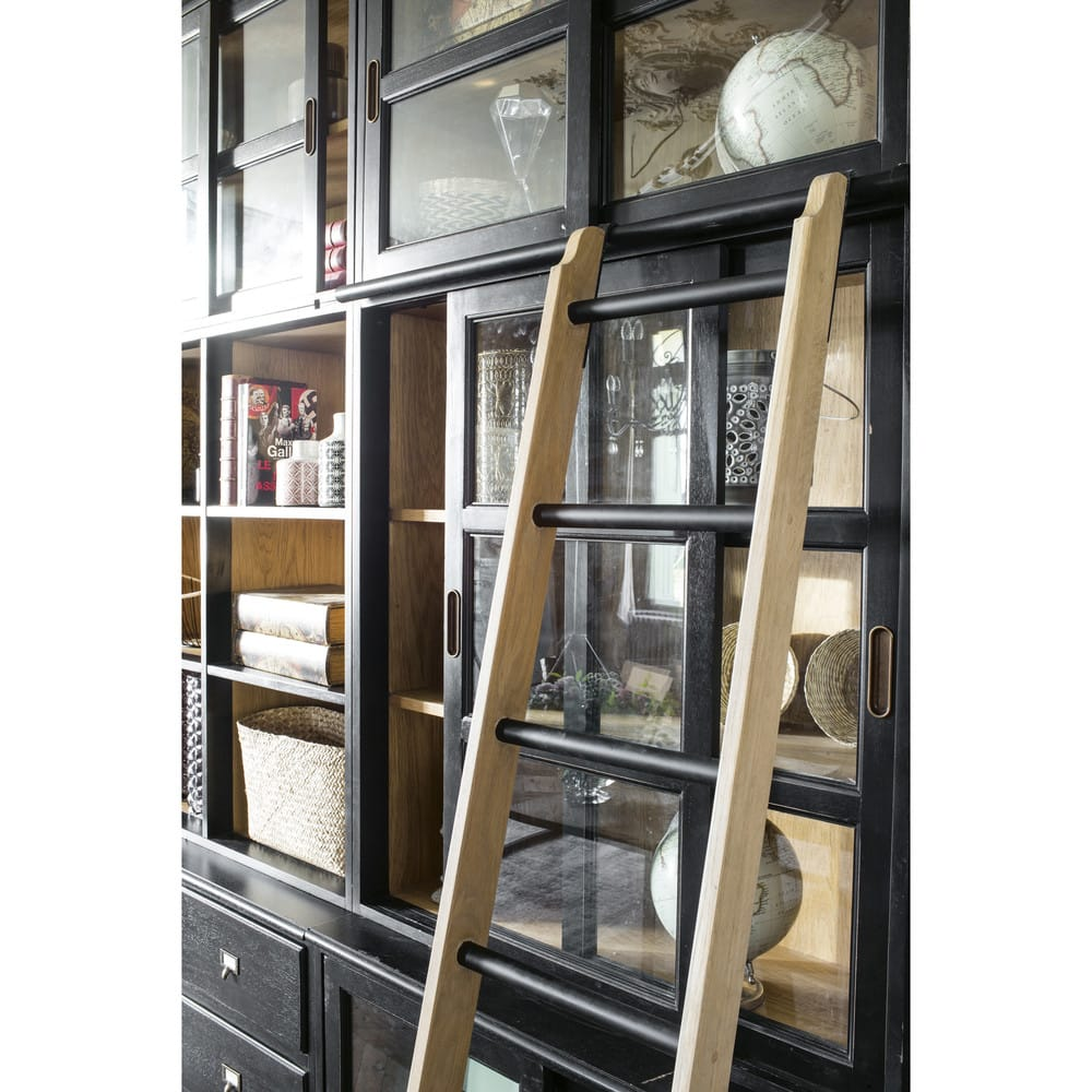 Scala per libreria decorativa in legno massello di frassino ...