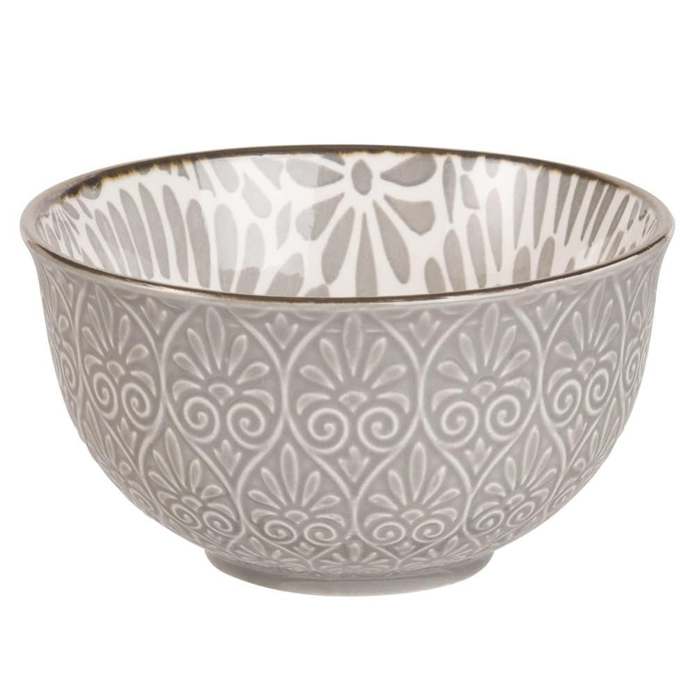 Schälchen Aus Keramik Grau Mit Blumenmotiv Agata Maisons Du Monde