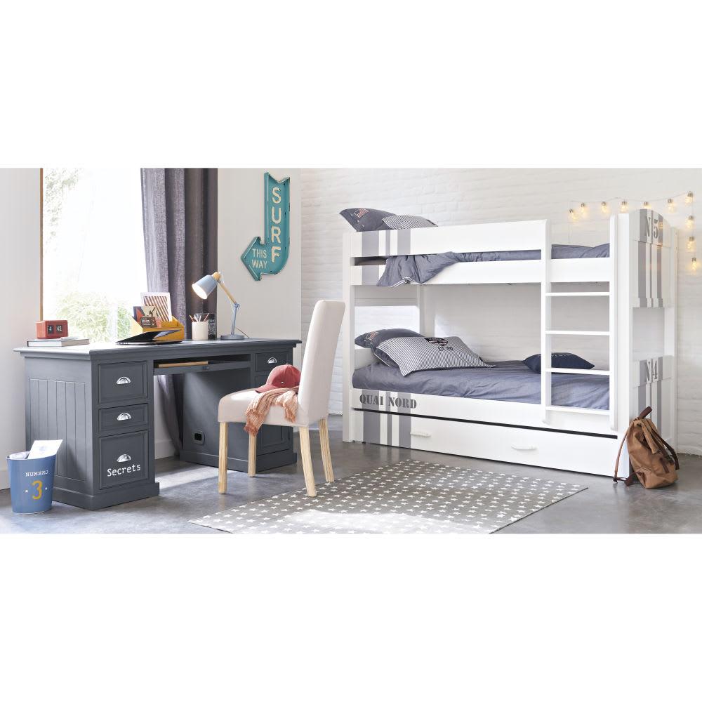 Schreibtisch b 150 cm grau newport maisons du monde for Schreibtisch 150