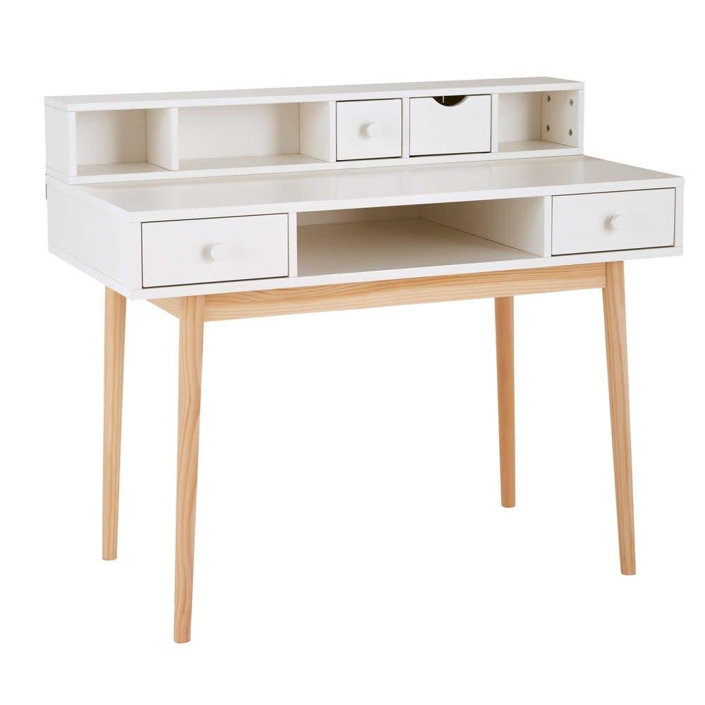 schreibtisch mit 2 schubladen wei joy maisons du monde. Black Bedroom Furniture Sets. Home Design Ideas