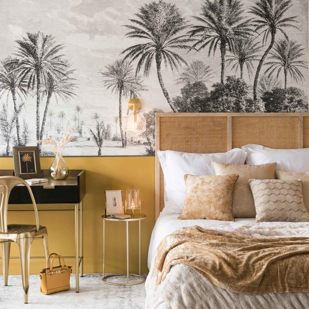 schreibtisch mit 3 schubladen aus massivem schwarzem. Black Bedroom Furniture Sets. Home Design Ideas