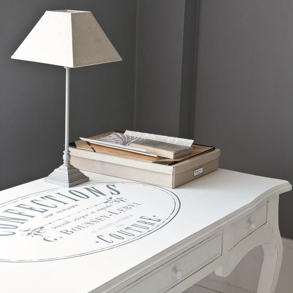 schreibtisch mit 3 schubladen wei confection maisons du monde. Black Bedroom Furniture Sets. Home Design Ideas