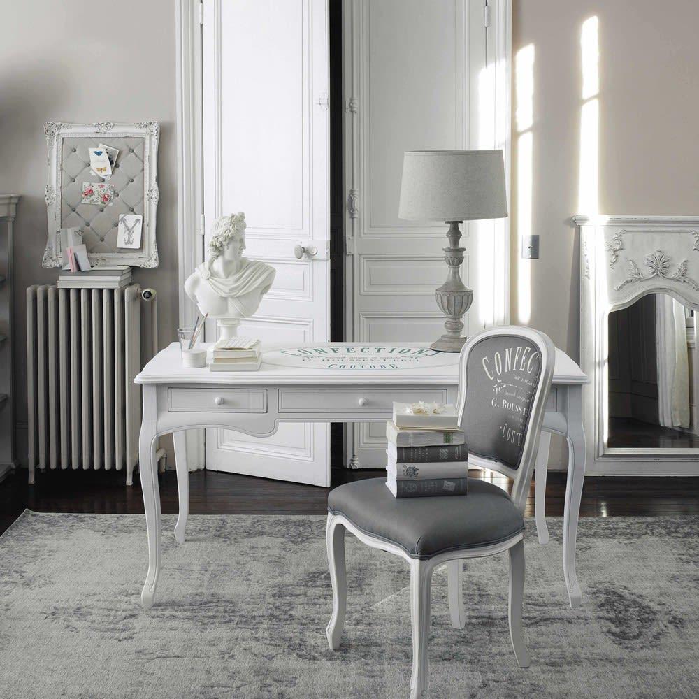 schreibtisch mit 3 schubladen wei confection maisons. Black Bedroom Furniture Sets. Home Design Ideas