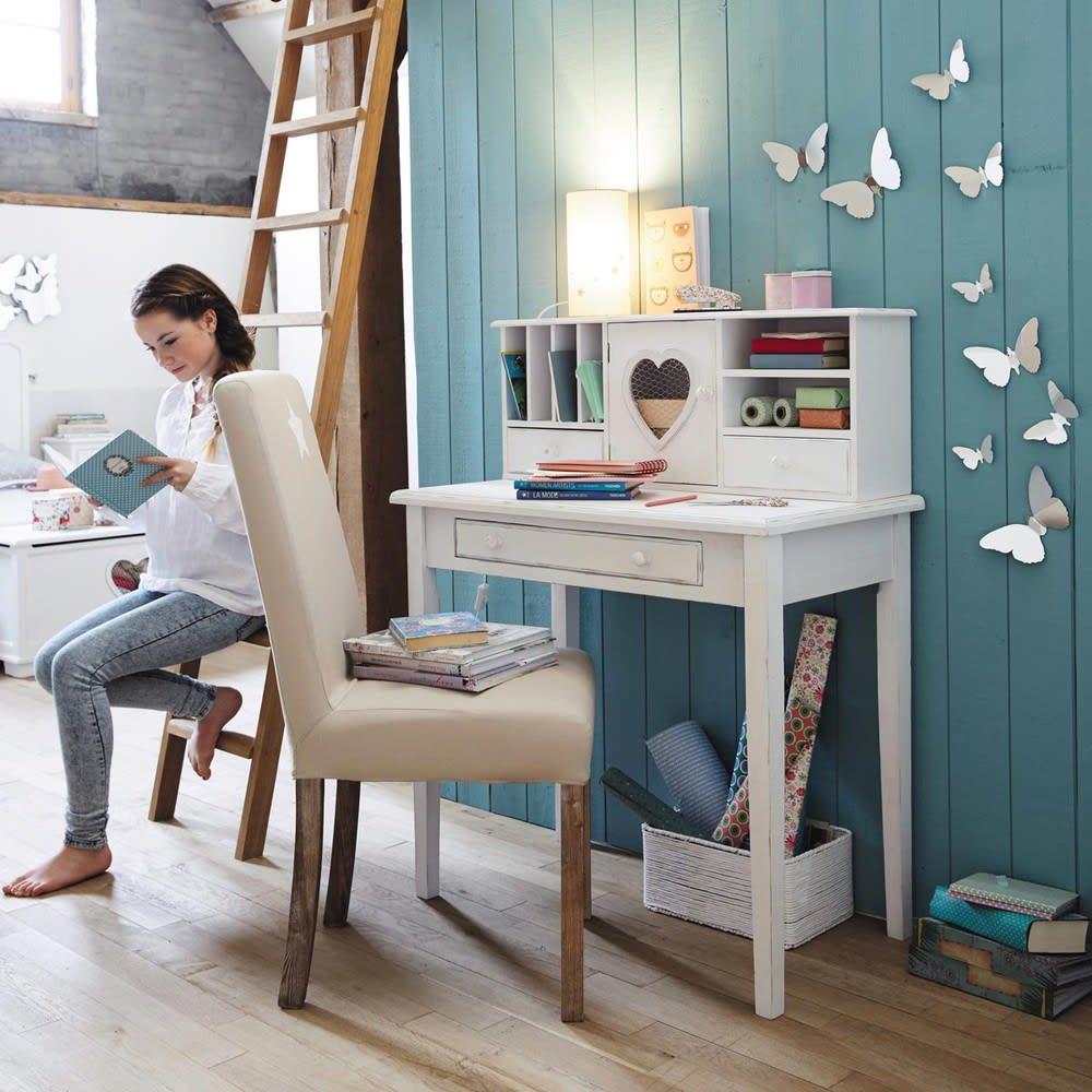 schreibtisch sekret r mit 1 t r und 3 schubladen wei. Black Bedroom Furniture Sets. Home Design Ideas