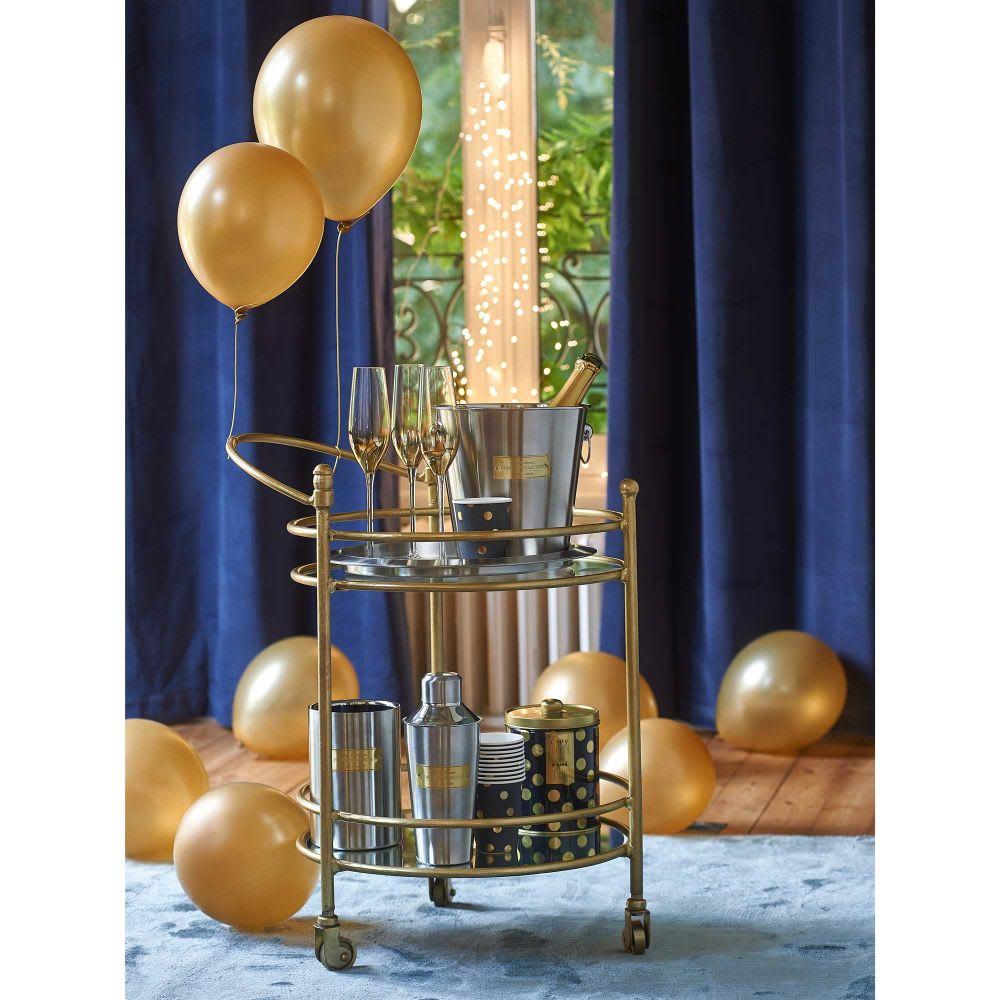 seau champagne en m tal et laiton maisons du monde. Black Bedroom Furniture Sets. Home Design Ideas