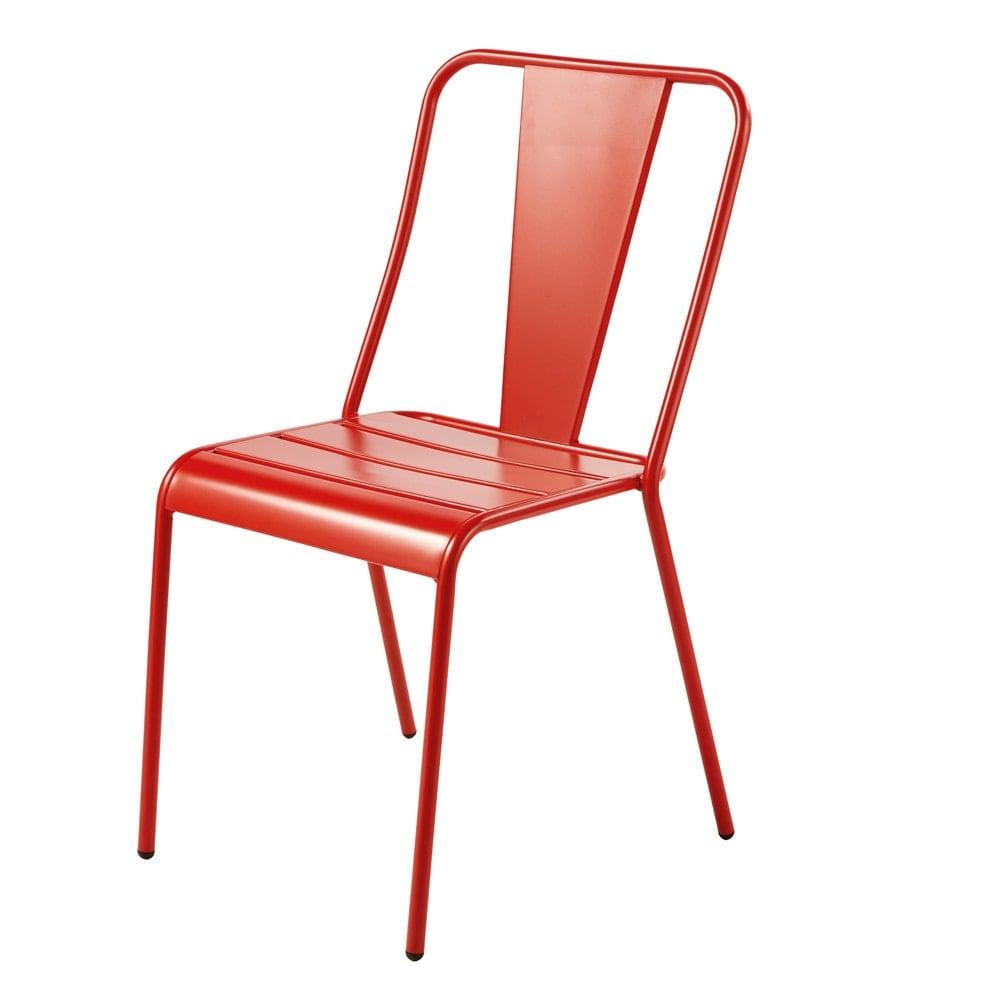 Sedie Da Giardino In Metallo.Sedia Da Giardino In Metallo Color Arancione Scuro Harry S Maisons