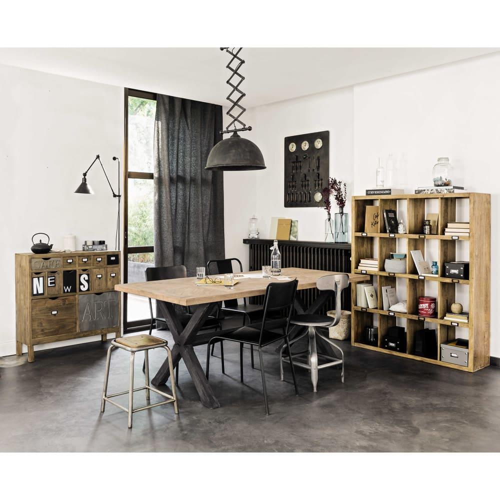 Sedia nera stile industriale in metallo Edison   Maisons ...