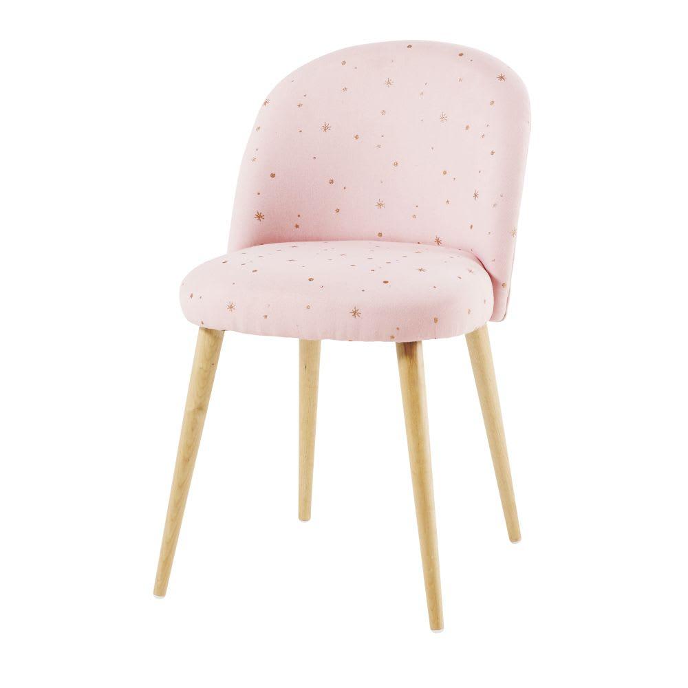 sedia vintage rosa con motivi a stelle dorate mauricette. Black Bedroom Furniture Sets. Home Design Ideas
