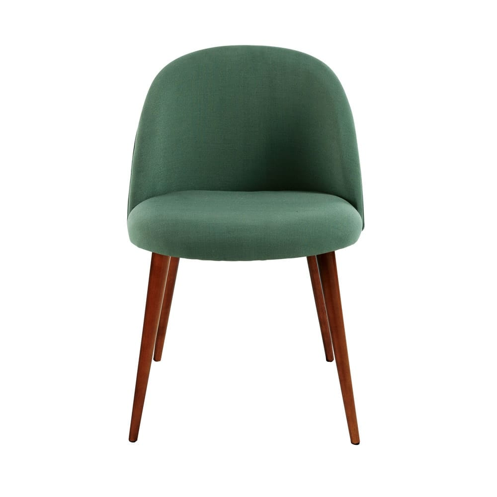 Sedia vintage verde e legno massello di betulla Mauricette   Maisons ...