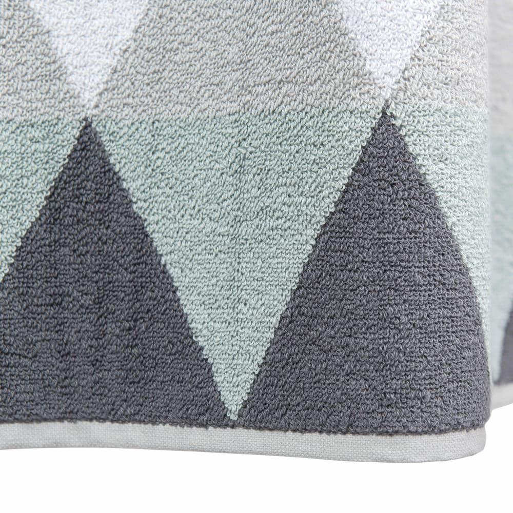 serviette de bain en coton gris 50x100 triangle maisons du monde. Black Bedroom Furniture Sets. Home Design Ideas