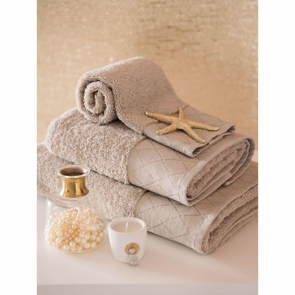 serviette de toilette en coton beige 30x50 hotes maisons. Black Bedroom Furniture Sets. Home Design Ideas
