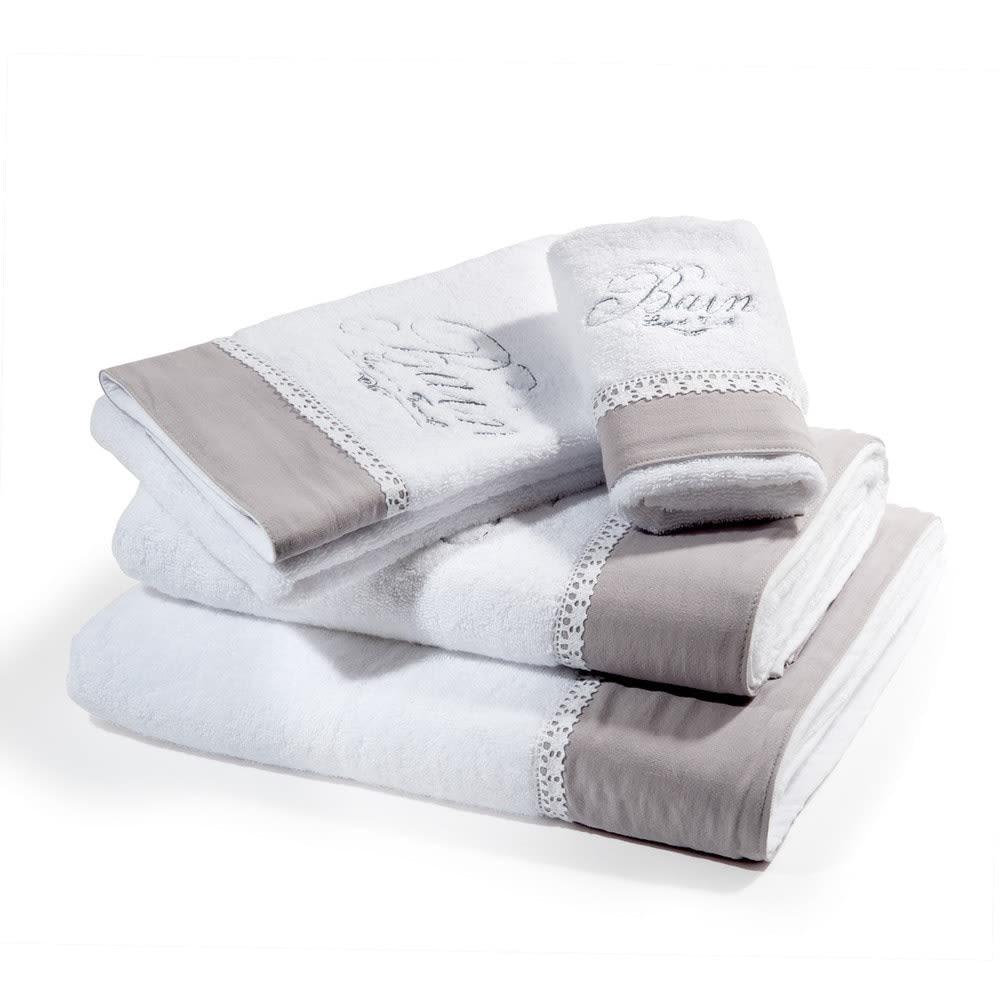 serviette de toilette en coton blanche 30x50 bain. Black Bedroom Furniture Sets. Home Design Ideas