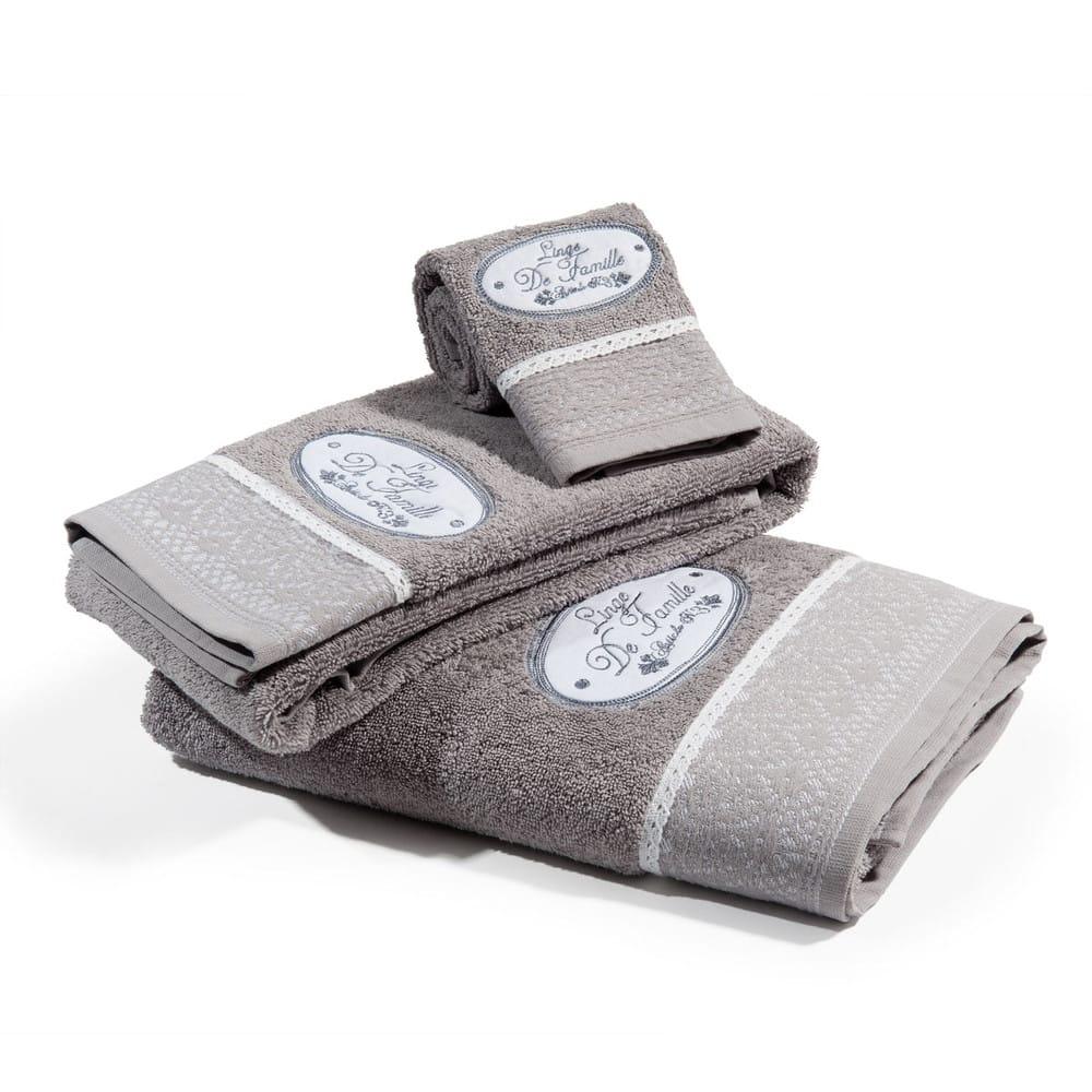 serviette de toilette jeanne 30x50 maisons du monde. Black Bedroom Furniture Sets. Home Design Ideas