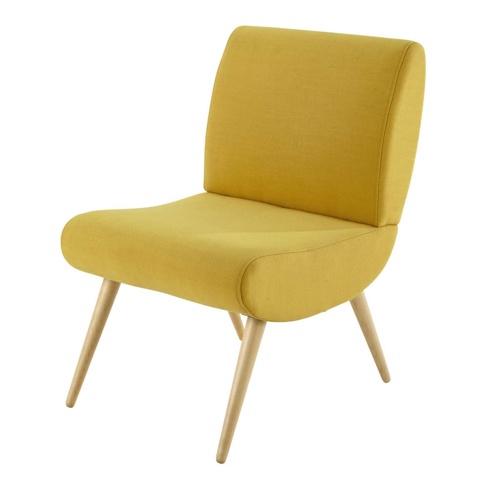 Sessel Im Vintage Stil Gelb Cosmos Maisons Du Monde
