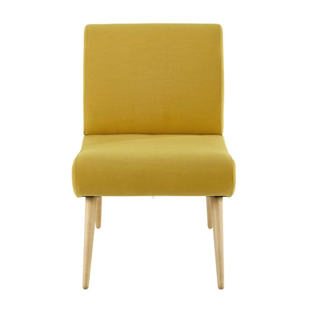 Sessel im vintage stil gelb cosmos maisons du monde for Sessel orientalischer stil
