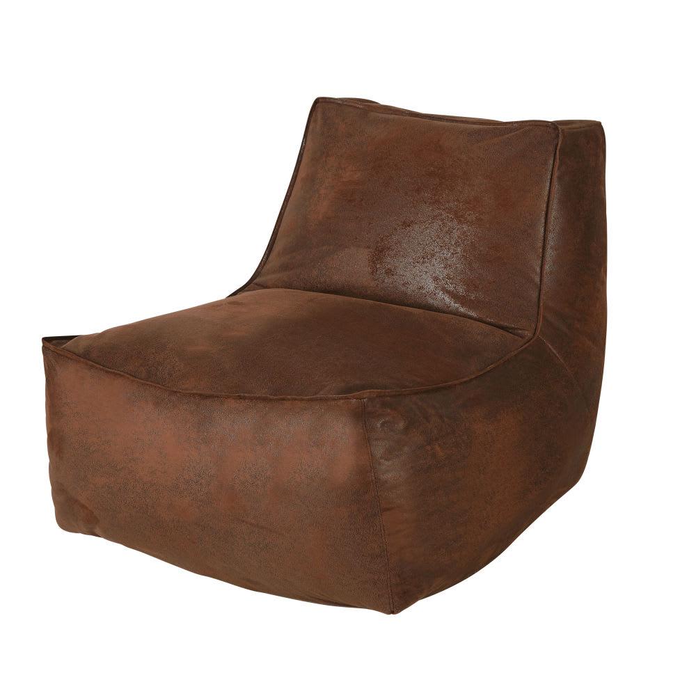 Sessel ohne Armlehnen für Sofa mit Bezug aus Wildlederimitat braun Teen