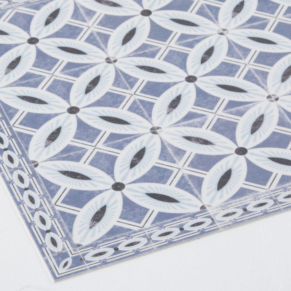 set de table en vinyle motifs carreaux de ciment porto. Black Bedroom Furniture Sets. Home Design Ideas