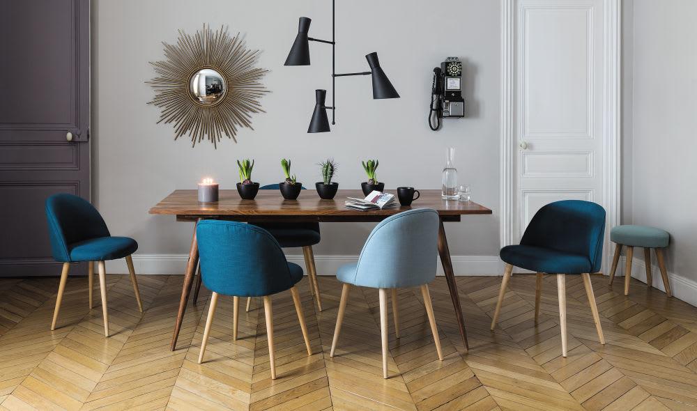 Sgabello scandinavo blu pinup maisons du monde