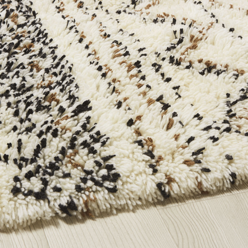 Shaggy Berber Wool And Cotton Rug 140x200 Land Maisons