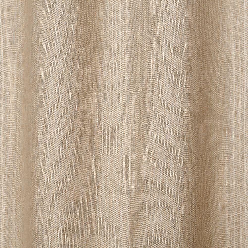 Single Beige Cotton Tie Top Net Curtain 140x250 Happy
