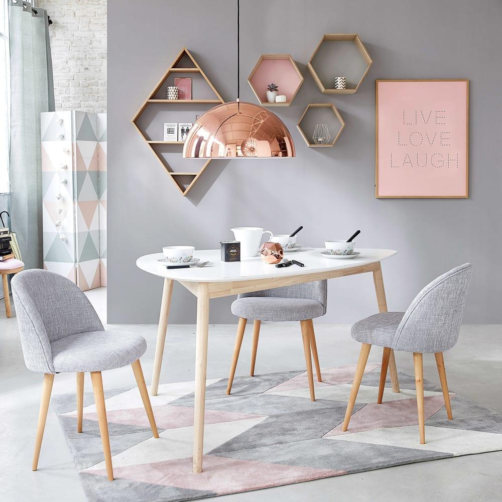 skandinavischer esstisch 4 5 personen wei l150 spring. Black Bedroom Furniture Sets. Home Design Ideas
