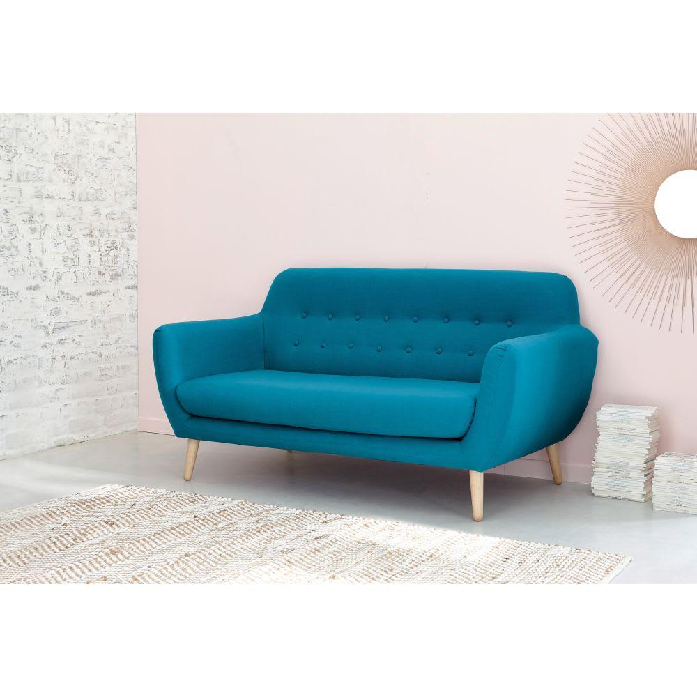 Skandinavischer sofa 2 3 sitzer aus stoff rosa iceberg for Sofa 4 sitzer stoff