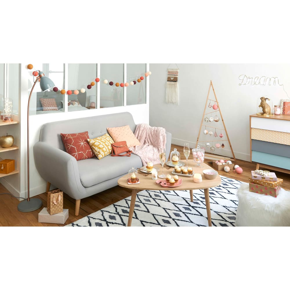 skandinavischer sofa 2 3 sitzer grau iceberg maisons du monde. Black Bedroom Furniture Sets. Home Design Ideas