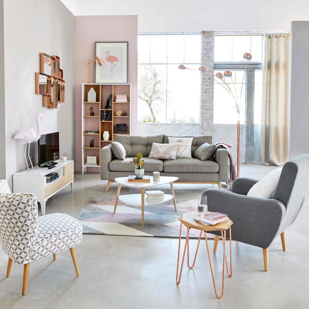 skandinavisches 3 sitzer sofa hellgrau brooke maisons. Black Bedroom Furniture Sets. Home Design Ideas