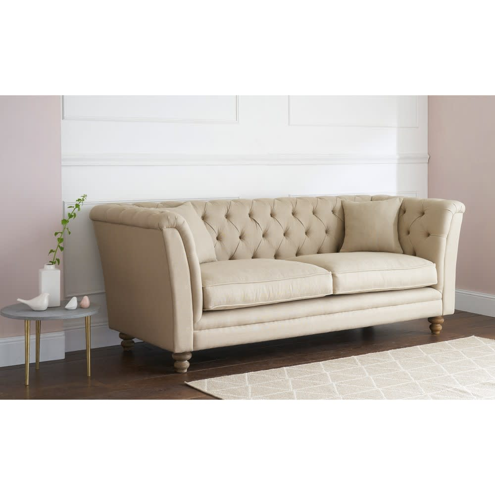 sofa 3 sitzer aus leinen lawrens maisons du monde. Black Bedroom Furniture Sets. Home Design Ideas