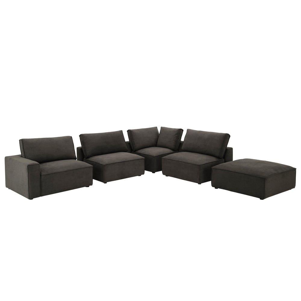 Sofa-Armlehne links aus Stoff, grautaupe Malo | Maisons du ...