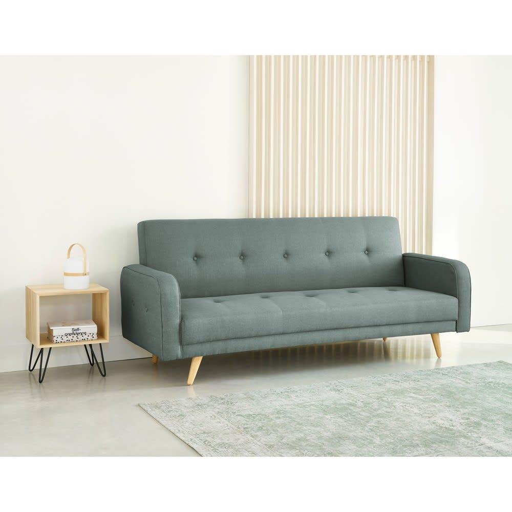 Sof cama clic clac de 3 plazas verde agua broadway for Sofa cama clic clac ikea