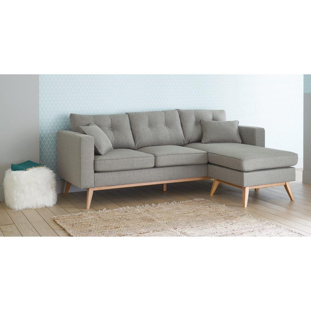 Sofa Esquinero Modulable Escandinavo De 4 5 Plazas Gris Claro Brooke