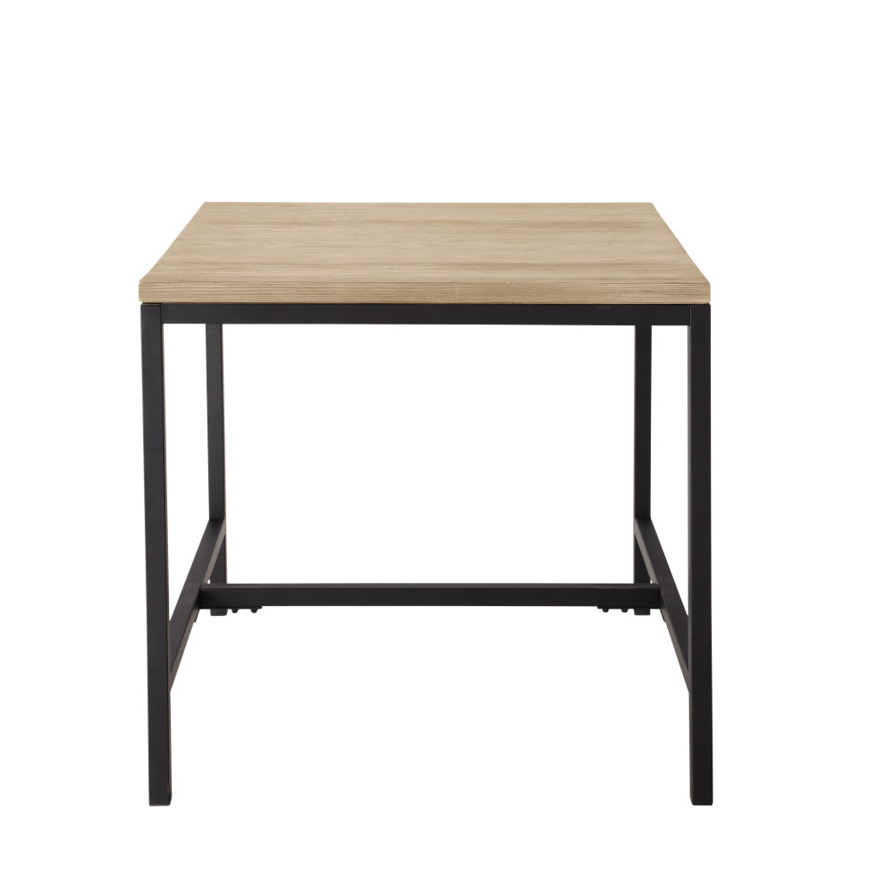 Solid Fir and Metal Industrial Dining Table Long Island | Maisons du ...