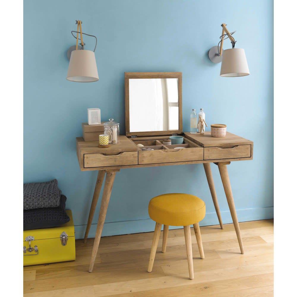 solid mango wood vintage dressing table trocadero maisons du monde