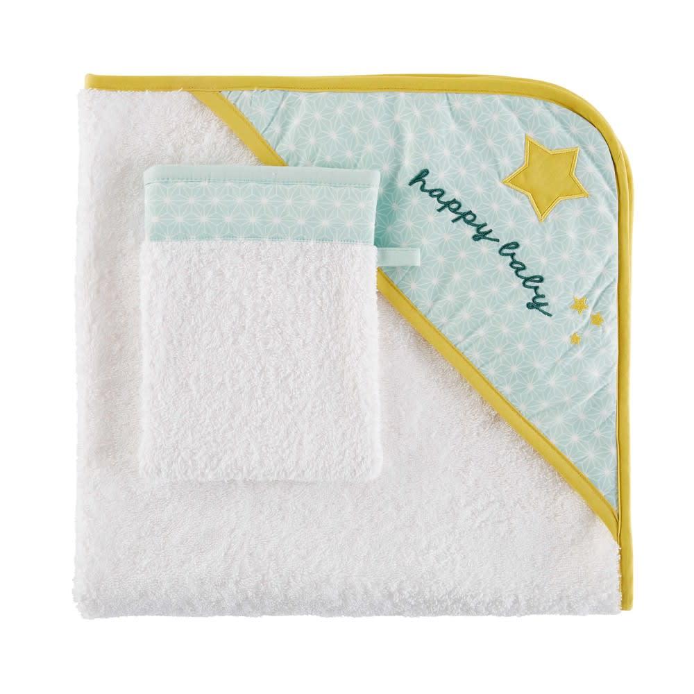 8e7dbaf041e95 Sortie de bain bébé en coton imprimé Gaston