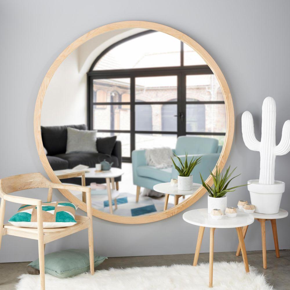 spiegel mit eichenholzrahmen d159 adam maisons du monde