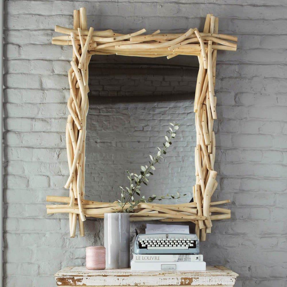 Spiegel aus Treibholz, H113