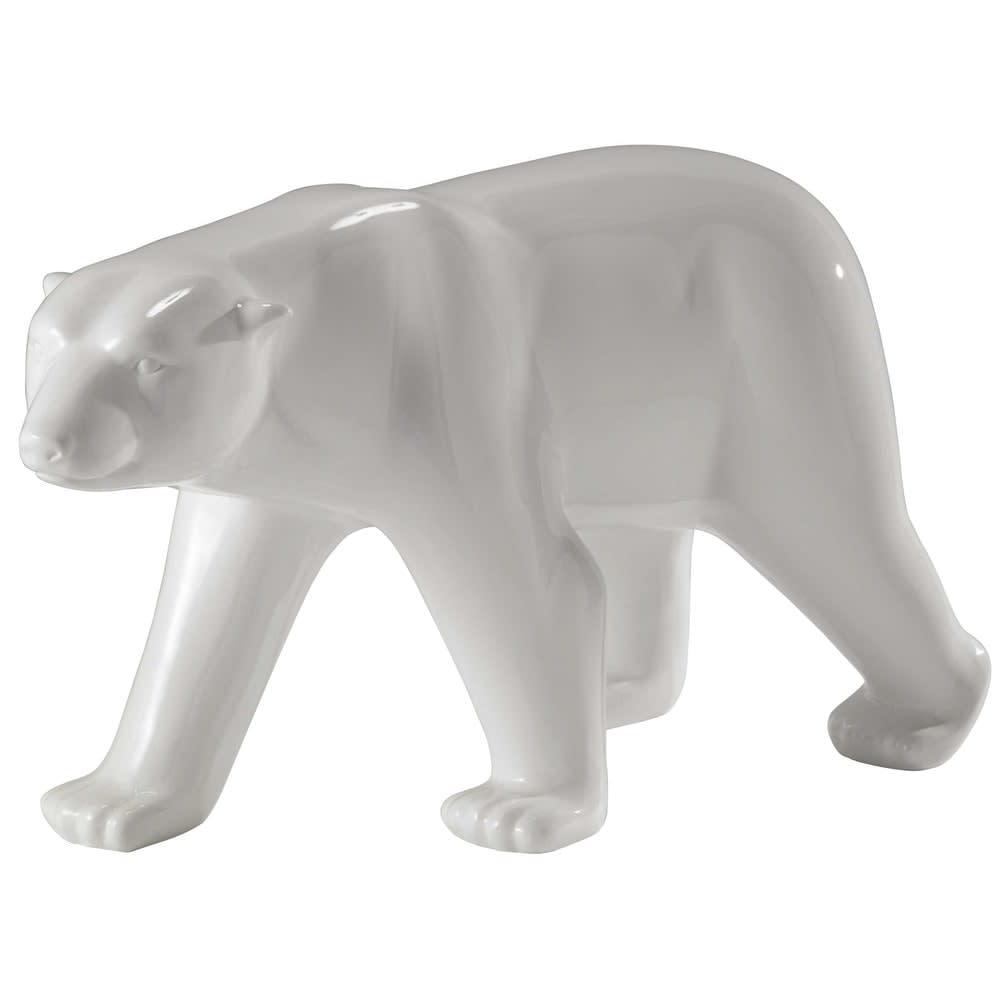 glacier - statue ours en résine blanche l 103 cm