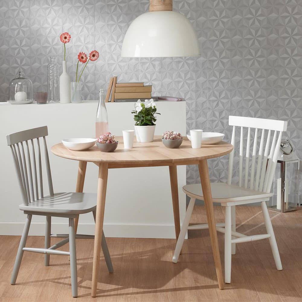 Stuhl Im Vintage Stil Aus Kautschukbaum Weiß Fjord