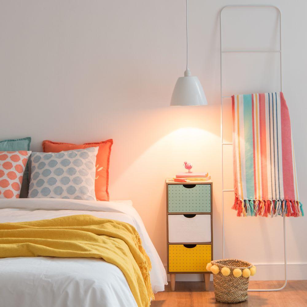 suspension en bambou blanc laqu d20 paola maisons du monde. Black Bedroom Furniture Sets. Home Design Ideas