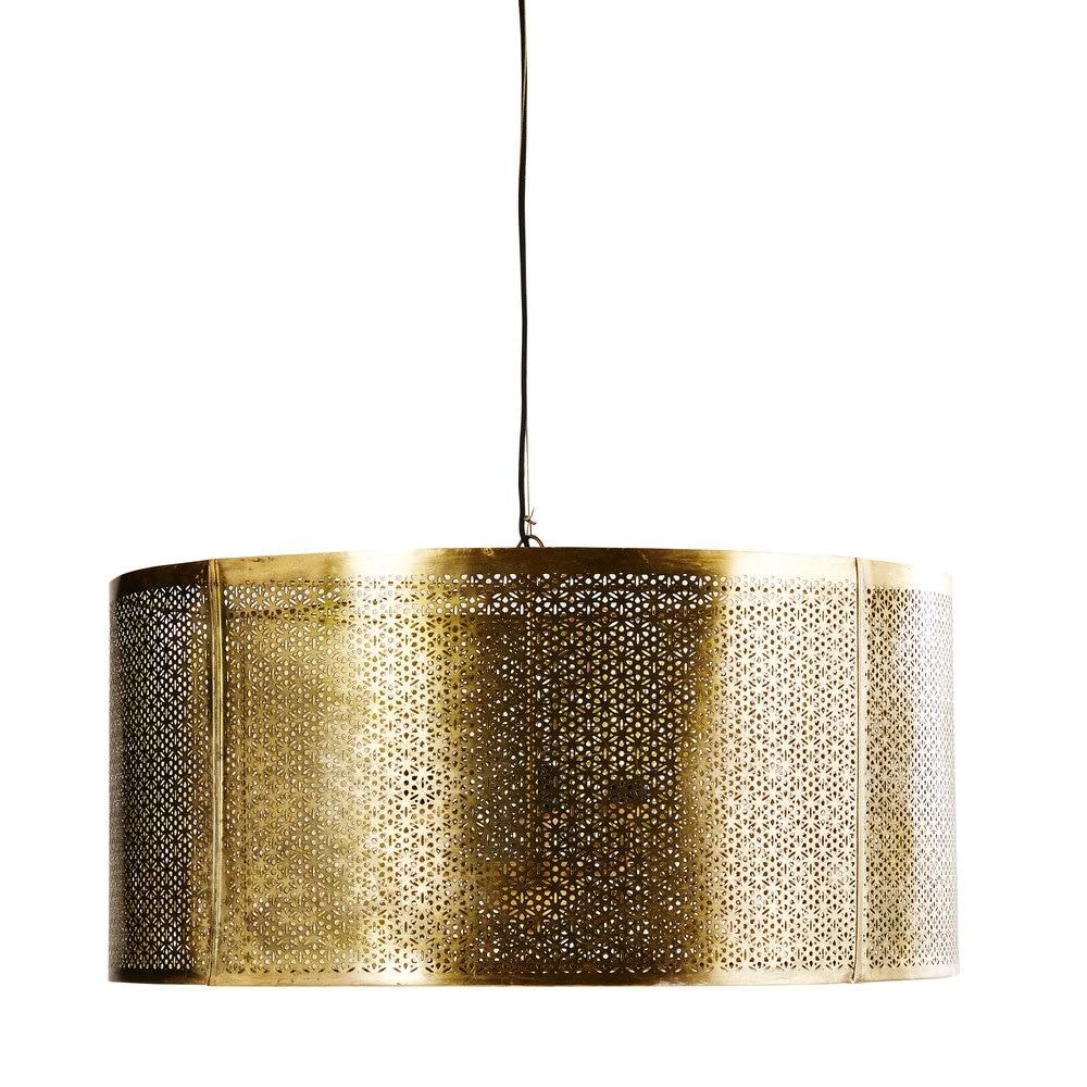 masala - suspension en métal ciselé doré d77