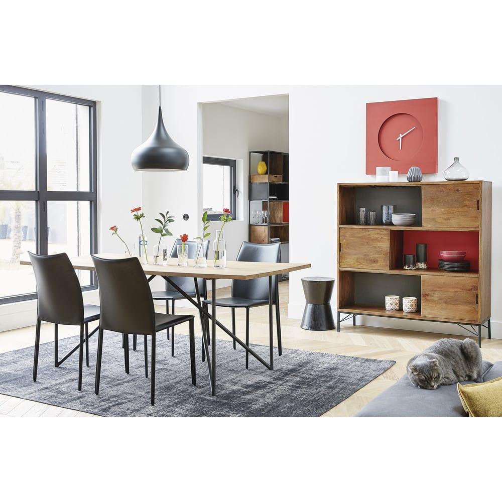 suspension en m tal noir nova maisons du monde. Black Bedroom Furniture Sets. Home Design Ideas