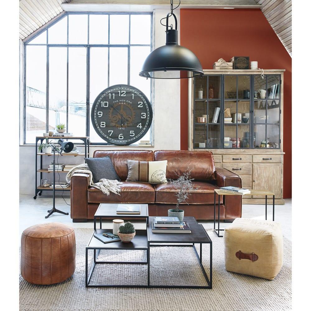 suspension en m tal noir d58 matthew maisons du monde. Black Bedroom Furniture Sets. Home Design Ideas
