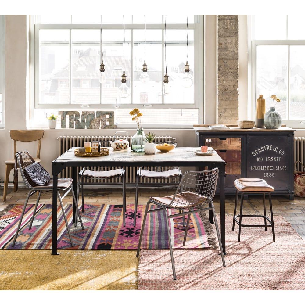 suspension en m tal noir et bronze murphy maisons du monde. Black Bedroom Furniture Sets. Home Design Ideas