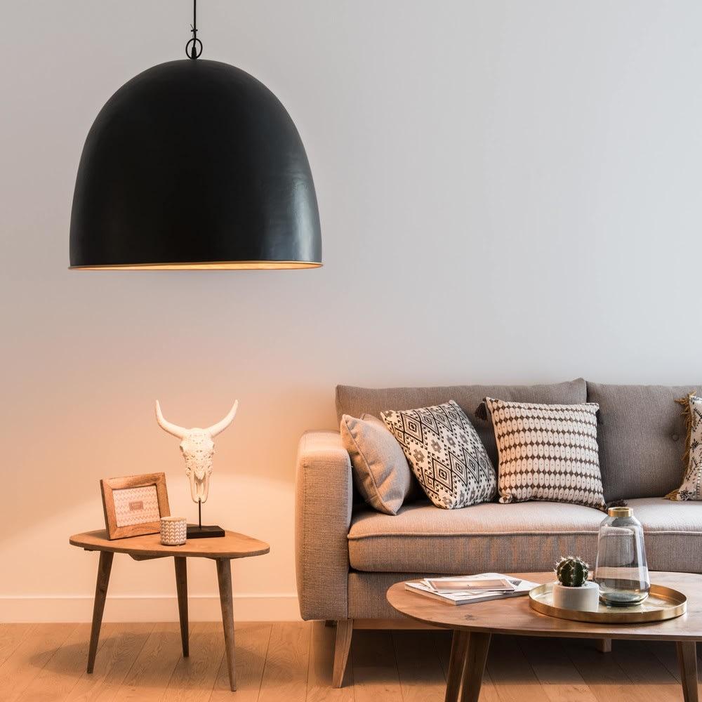 suspension en m tal noir et dor kouboura maisons du monde. Black Bedroom Furniture Sets. Home Design Ideas