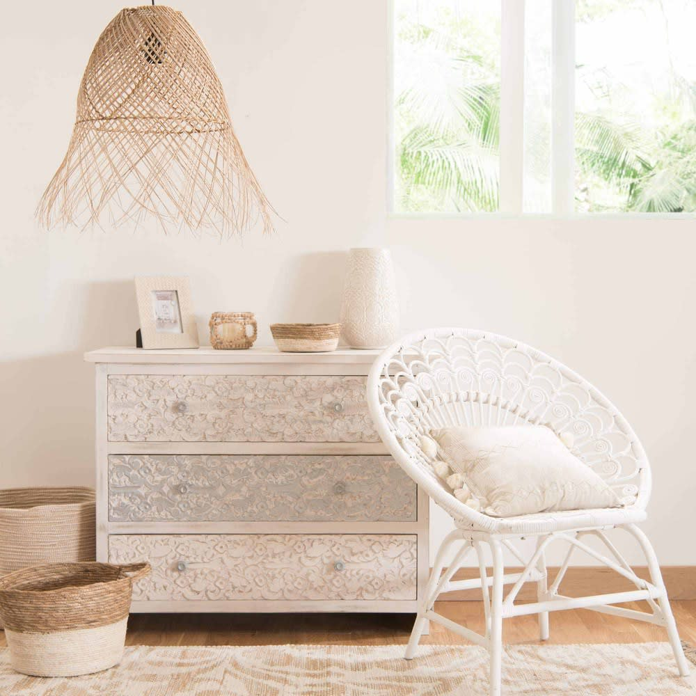 suspension en rotin havana maisons du monde. Black Bedroom Furniture Sets. Home Design Ideas
