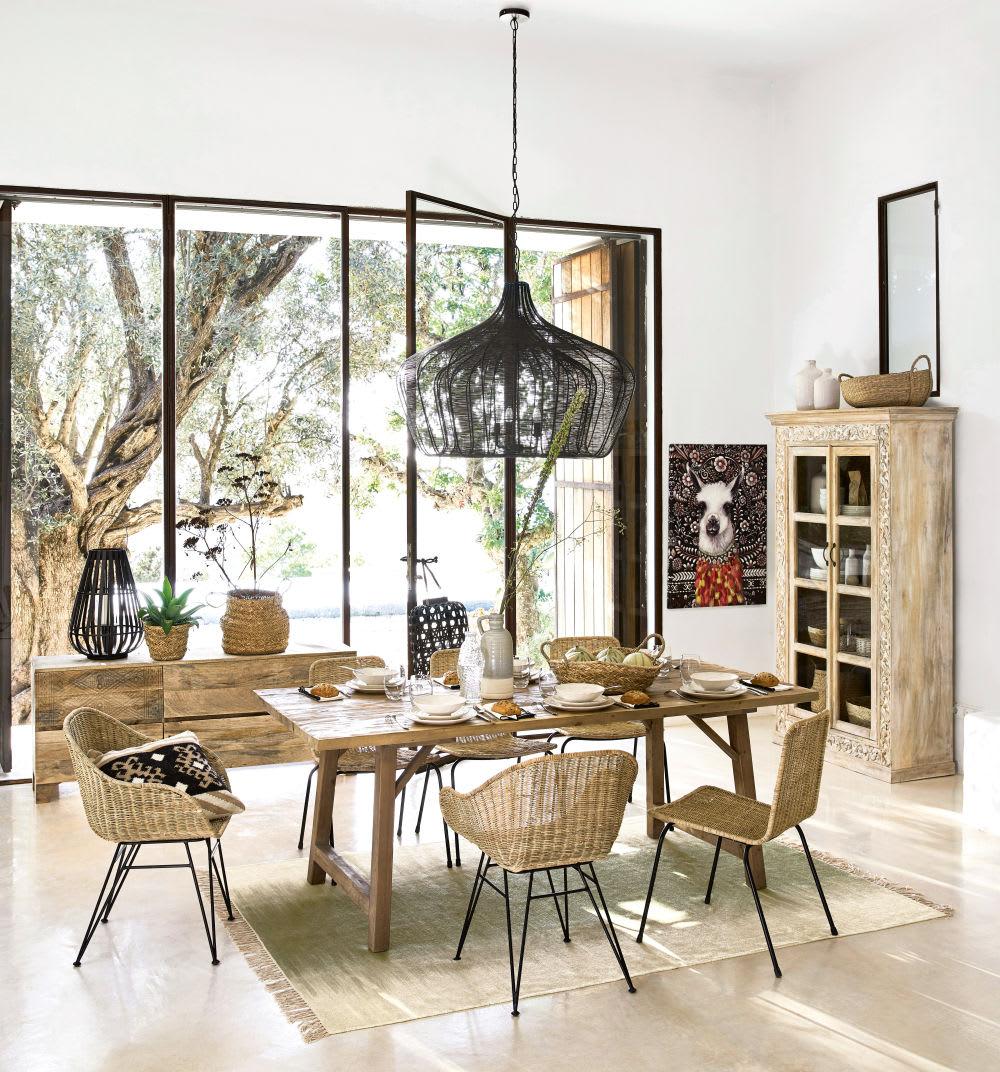 suspension filaire doubl e en m tal noir tibet maisons. Black Bedroom Furniture Sets. Home Design Ideas