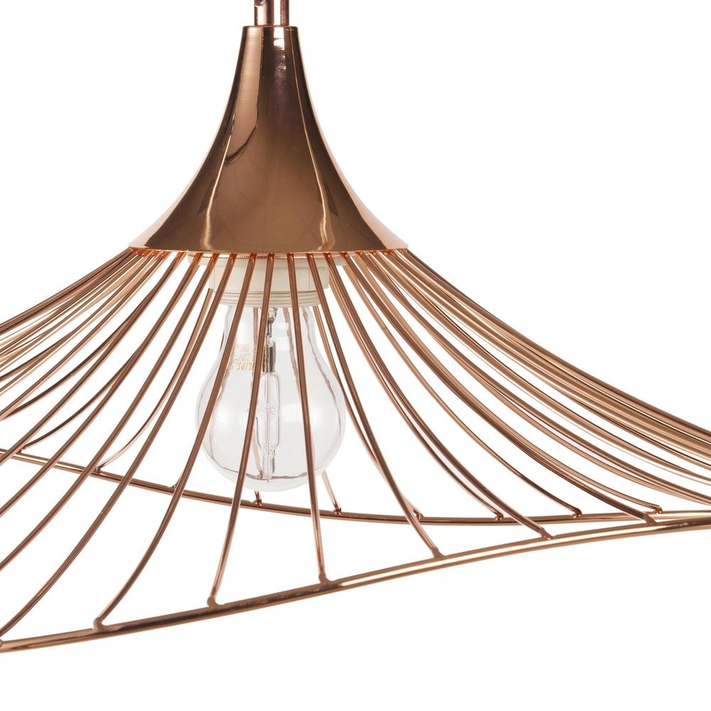 suspension filaire en m tal cuivr orla maisons du monde. Black Bedroom Furniture Sets. Home Design Ideas