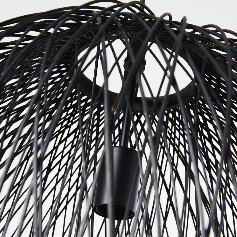 suspension filaire en rotin noir d63 solaire maisons du. Black Bedroom Furniture Sets. Home Design Ideas